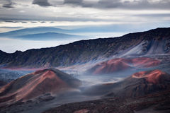 Haleakala crator på soluppgång Arkivfoton