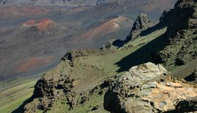 Haleakala Detail Panorama Royalty Free Stock Image