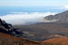 haleakala för 11 krater arkivbild