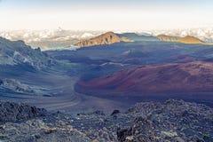Haleakala krater Obrazy Royalty Free