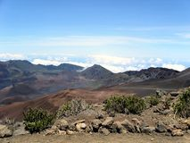 Haleakala krater zdjęcia stock