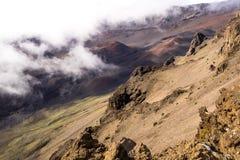 Haleakala-Krater-Kegel, Maui lizenzfreies stockbild