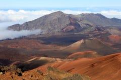 Haleakala krater på Maui, Hawaii Arkivbild