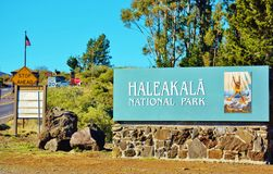 Haleakala  in maui national park visitor center Royalty Free Stock Image