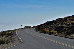 Haleakala Nationaal Park in Maui stock afbeelding