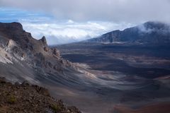 Panoramic Summit Clouds rollin gin Royalty Free Stock Photos