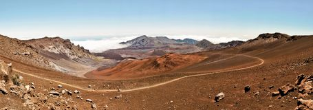 Haleakala national park in Hawaii Royalty Free Stock Photo