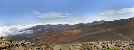 Haleakala National Park.Panorama. Stock Image