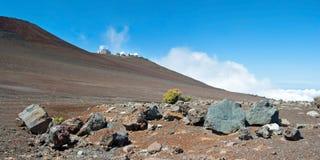 Haleakala Observatory in Haleakala National Park on Maui Island Stock Images