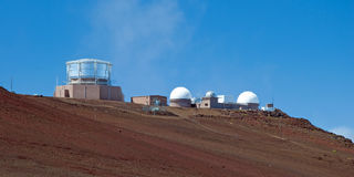 Haleakala Observatory in Haleakala National Park on Maui Island Stock Photos