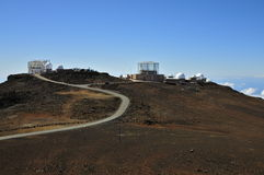 Haleakala Observatory, Maui Stock Photo