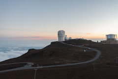 Haleakala Observatory at sunset, Maui Stock Photography