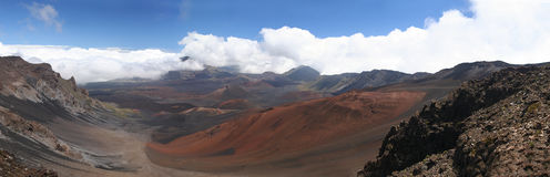 Haleakala Park in Maui. At the summit point of Haleakala Park in Maui, Hawaii. View on volcanic cones Royalty Free Stock Images