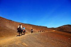 haleakala park narodowy ślad Zdjęcie Royalty Free