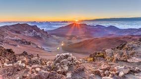 Haleakala soluppgång Arkivfoto