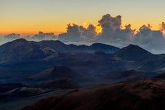 Haleakala soluppgång i Maui Hawaii Royaltyfri Foto
