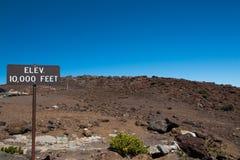Haleakala toppmöte Arkivbild