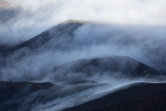 Haleakala volcanic crater and clouds Stock Image