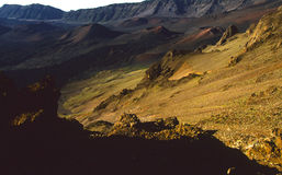 Haleakala Volcano. An early morning scenic of the inside of the haleakal volcano crater on maui Stock Photo