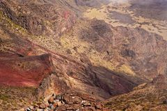 Haleakala Volcano and Crater Maui Hawaii, Stock Images