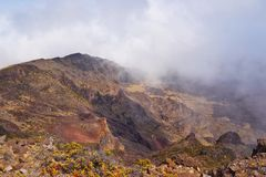 Haleakala Volcano and Crater Maui Hawaii Stock Photos