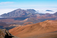 Haleakala Volcano Crater Stock Photo
