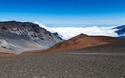 Haleakala volcano on the Hawaiian island of Maui Stock Images