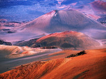 Haleakala volcano Maui Hawaii. Closeup of the Haleakala volcano which although inactive still reminds us of an extraterrestrial landscape with its craters and Stock Photography