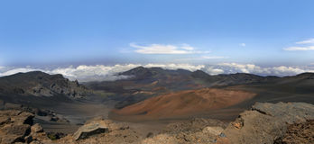 Haleakala volcano, Maui, Hawaii.Panorama. Stock Photography