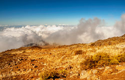 Haleakala Volcano on  Maui island in Hawaii Royalty Free Stock Photo