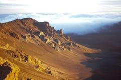 Haleakala Volcano Sunrise Stock Photo