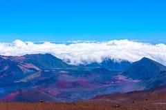 Haleakala Volcanoe Crater. Earie Scence from inside the crater of the Haleakala Volcanoe Royalty Free Stock Photo