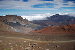 Haleakala Vulkan-Krater Lizenzfreies Stockfoto