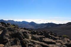 Haleakala vulkanliggande Arkivfoto