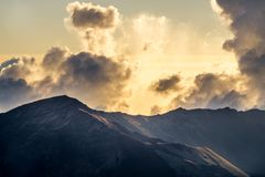 Haleakala wschód słońca w Maui Hawaje Obrazy Stock