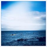 Haleakalastrand en overzees stock foto