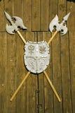 Halebarde médiévale roumaine Photos stock