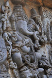 Halebidu wall panel relief Stock Photo