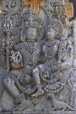 Halebidu wall panel relief Stock Images