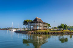 Haleiwa Boat Harbor. Is located in historic Haleiwa Town, on the North Shore of Oahu, Hawaii Stock Photo