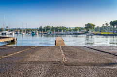 Haleiwa Boat Harbor Ramp. Haleiwa Boat Harbor located in historic Haleiwa Town, on the North Shore of Oahu, Hawaii Royalty Free Stock Photo