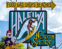 Haleiwa Town Stock Photo