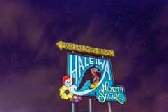 Haleiwa Town Iconic Sign Stock Image