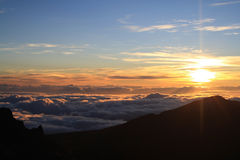 Halekala Sonnenaufgang Stockfotos