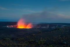 Halemaumau Crater on Kilauea Royalty Free Stock Images