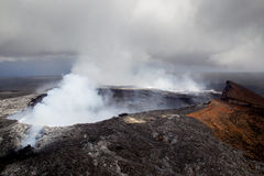 Halemaumau crater on Kilauea Royalty Free Stock Photo