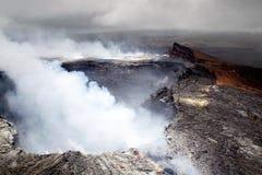 Halemaumau crater on Kilauea Stock Photo