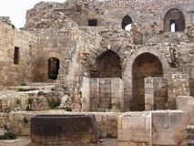 halep ancient ruins in Syria Stock Image