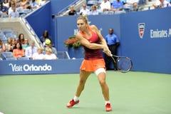 Halep Simona en el US Open 2015 (32) Foto de archivo libre de regalías