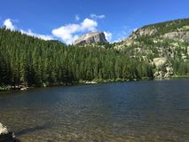 Halet Peak and small lake Rocky Mountain National Park. Stock Images